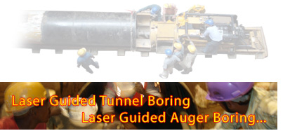Laser Guided Tunnel Boring | Laser Guided Auger Boring | Laser